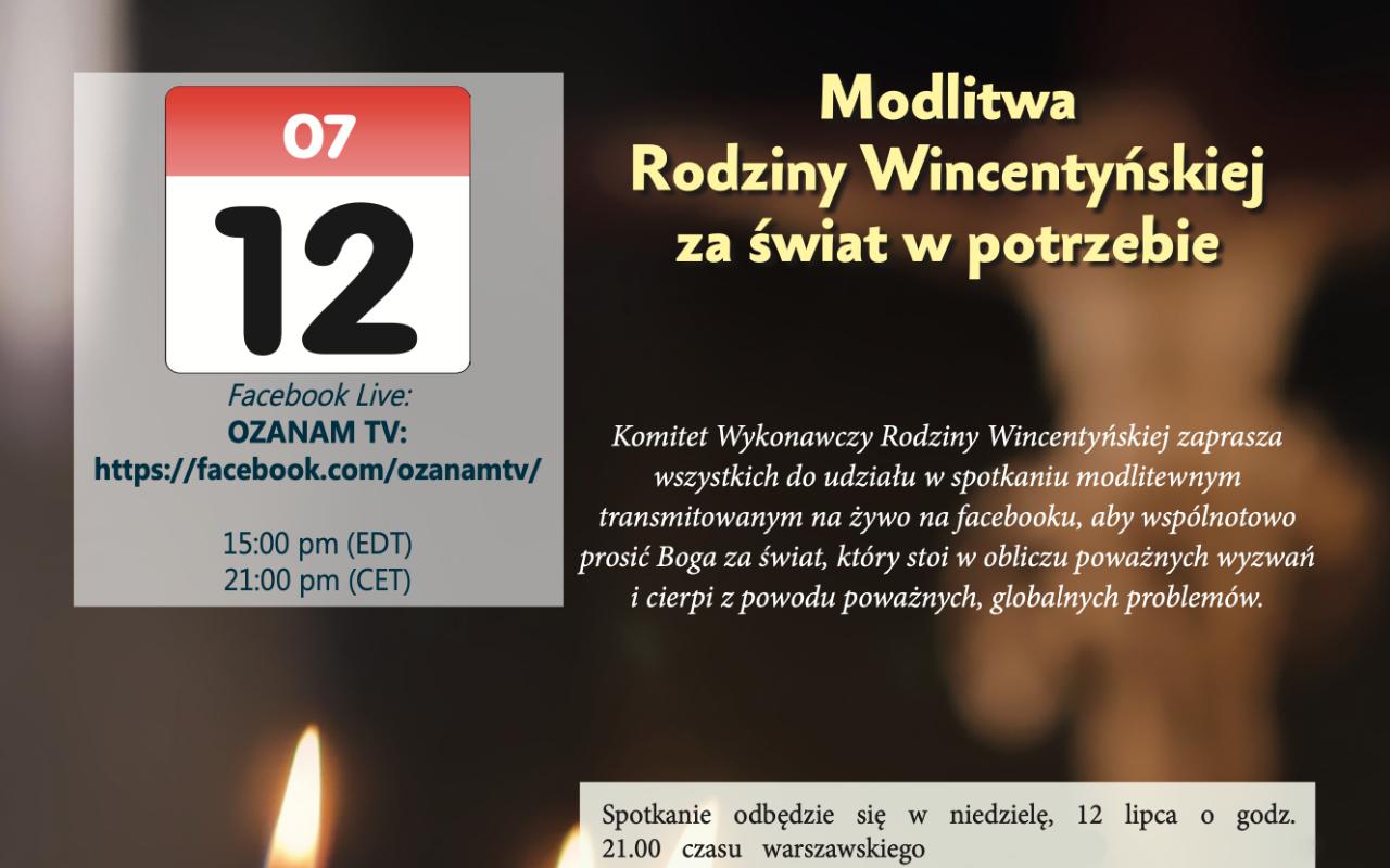 Modlitwa Rodziny Wincentyńskiej za świat