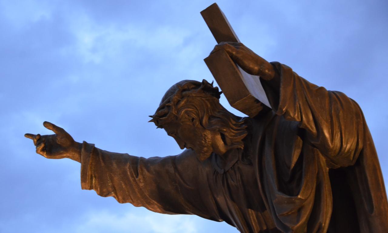 Profanacja figury Chrystusa